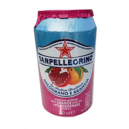 San Pellegrino Pomegranate & Orange Soda Can (24 x 330ml)